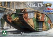 Takom 1/35 2076 WWI Heavy Battle Tank Mk.IV Male/Female 2 In 1