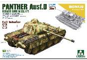 Takom 1/35 2103 Early/Mid  Panther Ausf.D with full interior 2 in 1 plus clear shell