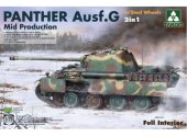Takom 1/35 2120 Panther Ausf G Mid w/ Full Interior - Steel Wheels 2 in 1