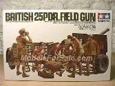 Tamiya 1/35 35046 British 25Pdr Field Gun & 6 Figures