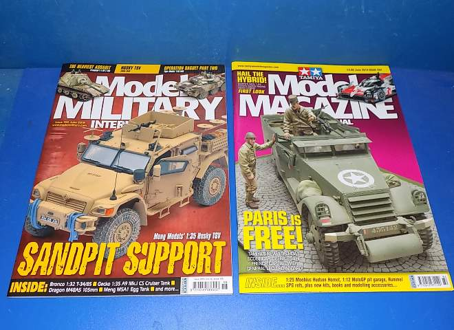 Tamiya Magazines na FREE76 FREE GIFT FOR ORDERS OVER £60 - Model Magazine and Model Military June  2019