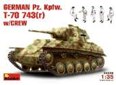 Miniart 1/35 35026 German Pz.Kpfw T-70 743 w/Crew