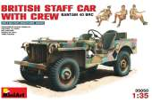 Miniart 1/35 35050 British Staff Car with Crew - Bantam 40 BRC