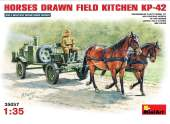 Miniart 1/35 35057 Soviet Field Kitchen w/ Horses