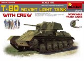 Miniart 1/35 35243 T-80 Soviet Light Tank with Crew