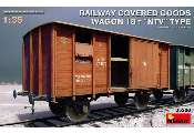 Miniart 1/35 35288 Railway Covered-Goods Wagon 18t 'NTV' Type