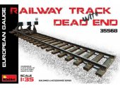Miniart 1/35 35568 Railway Track w/ Dead End European Gauge