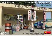 Miniart 1/35 35598 German Gas Station 1930-40's (building and car not inculded)