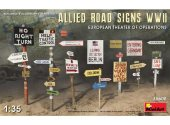 Miniart 1/35 35608 Allied Road Signs WWII. European Theatre of Operations