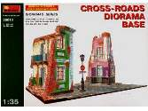 Miniart 1/35 36013 Cross Roads Diorama Base with 2 ruined houses