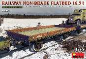 Miniart 1/35 39004 Railway Non-Brake Flatbed 16.5t