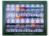 Vallejo 17ml x16 70149 Model Color Acrylic Paint Set Napoleonic French & British 1815