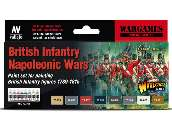 Vallejo 17ml x8 70163 Model Color Acrylic Paint Set - Napoleonic British Infantry