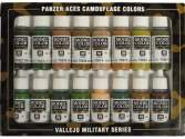 Vallejo 17ml x 16 70179 Model Color Set - Panzer Aces Camouflage