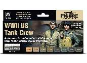 Vallejo 17ml x8 70186 Model Color Acrylic Paint Set - WWII US Tank Crew