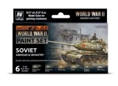 Vallejo 17ml x6 70202 Model Color Acrylic Paint Set - WW2 Soviet Armour / Infantry