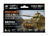 Vallejo 17ml x6 70204 Model Color Acrylic Paint Set - WWII British Amour / Infantry