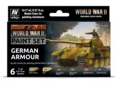 Vallejo 17ml x6 70205 WWII German Armour - Acrylic Paint Set