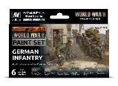 Vallejo 17ml x6 70206 Model Color Acrylic Paint Set - WWII German Infantry