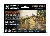 Vallejo 17ml x6 70207 Model Color Acrylic Paint Set - German Waffen SS