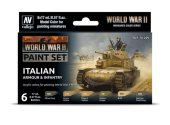 Vallejo 17ml x6 70209 Model Color Acrylic Paint Set - Italian Armour / Infantry