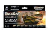 Vallejo 17ml x8 70220 Model Color Acrylic Paint Set - WWIII American Armour / Infantry