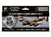 Vallejo 17ml x8 71145 Model Air Acrylic Paint Set - Bomber / Training Air Command