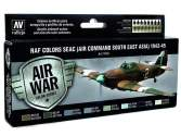 Vallejo 17ml x 8 71146 Model Air Set - RAF Colours SEAC 1942-1945