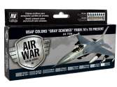 Vallejo 17ml x 8 71156 Model Air Set - USAF Colours Grey Schemes from 70's to present