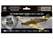 Vallejo 17ml x 8 71163 Model Air Set - WWII RAF Desert