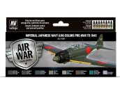 Vallejo 17ml x8 71169 Model Air Paint Set - Imperial Japanese Navy (IJN) Colors Pre-War to 1945