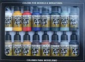 Vallejo 17ml x16 71178 Model Air Set - Basic Colours (x16)
