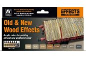 Vallejo 17ml x 8 71187 Model Air Paint Set - Old and New Wood Effects