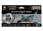 Vallejo 17ml x8 71204 Model Air Paint Set - USAF colors Vietnam SEA