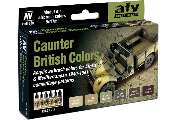 Vallejo 17ml x 6 71211 Model Air Set - British Caunter Colors