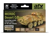 Vallejo 17ml x6 71212 Model Air Paint Set - MERDC Desert Colours