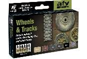 Vallejo 17ml x 6 71213 Model Air Paint Set - Wheels & Tracks