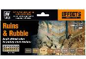 Vallejo 17ml x 8 71214 Model Air Set - Ruins & Rubble