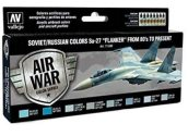 Vallejo 17ml x8 71602 Model Air Set - Su-27 Flanker