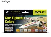 Vallejo 17ml x 8 71612 Model Air Acrylic Paint Set - Star Fighters Colours