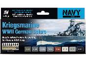 Vallejo 17ml x 8 71615 Model Air Set -  Kriegsmarine WWII German Colours