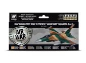 Vallejo 17ml x8 71616 Model Air Acrylic Paint Set - USAF  post WWII to present Aggressor Sqd (Part I)