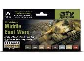 Vallejo 17ml x8 71619 Model Air Acrylic Paint Set - Middle East Wars