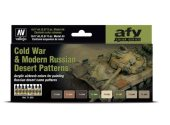 Vallejo 17ml x8 71620 Model Air Paint Set - Cold War and Modern Russian Desrt Patterns
