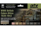 Vallejo 17ml x8 71622 Model Air Paint Set - WWII British Vehicle Colours Africa 1939-43