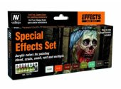 Vallejo 17ml x 8 72213 Game Acrylic Color Paint Set - Special Effects