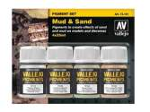 Vallejo 35ml x 4 73191 Pigment Set - Mud and Sand