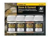 Vallejo 35ml x 4 73192 Pigment Set - Stone and Cement