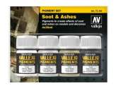 Vallejo 35ml x 4 73193 Pigment Set - Soot and Ashes