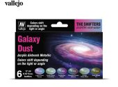 Vallejo 17ml x6 77092 Model Air Acrylic Paint Set - Galaxy Dust